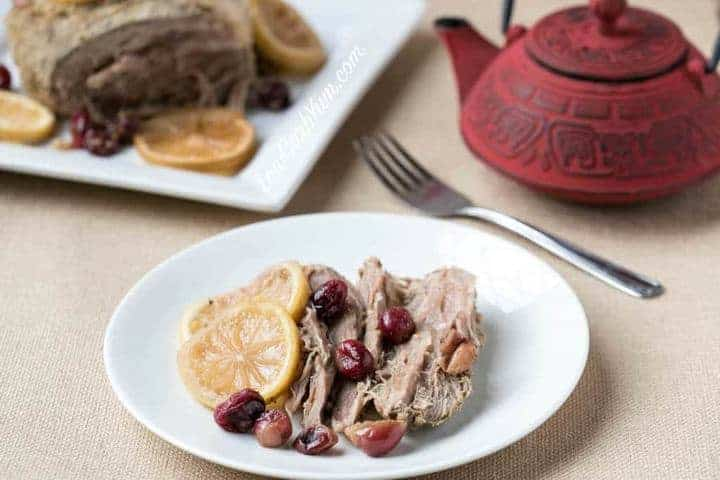 Low Carb Gluten Free Crock Pot Cranberry Pork Roast