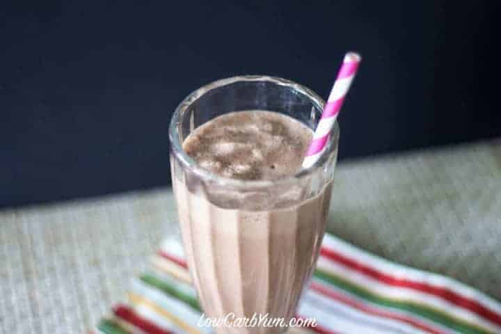 Peanut Butter Chocolate Milkshake | Low Carb Yum