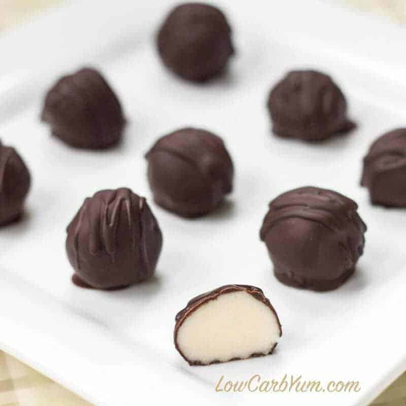 White chocolate low carb truffles