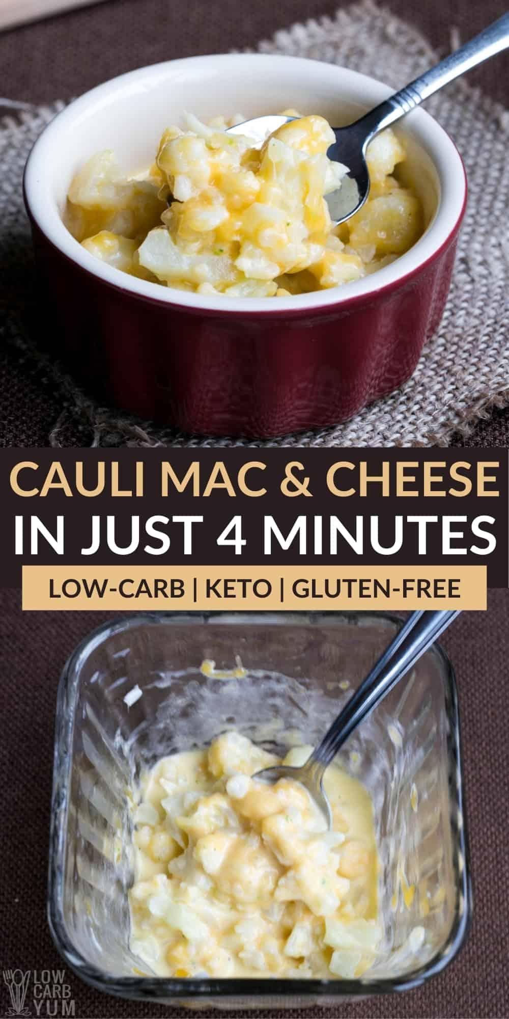 frozen cauliflower instant mac and cheese pinterest image