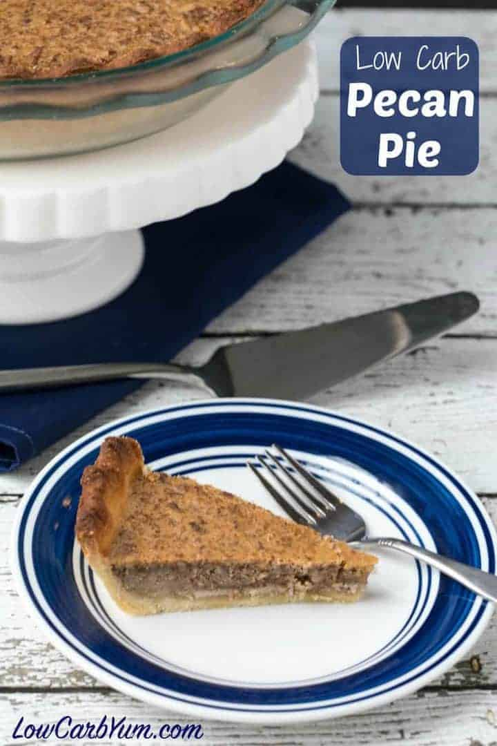 Keto low carb pecan pie recipe cover image
