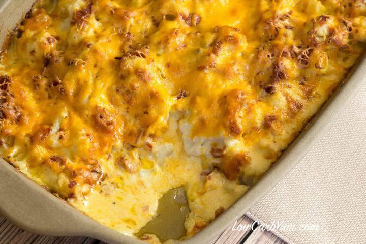 Low carb gluten free cauliflower au gratin recipe