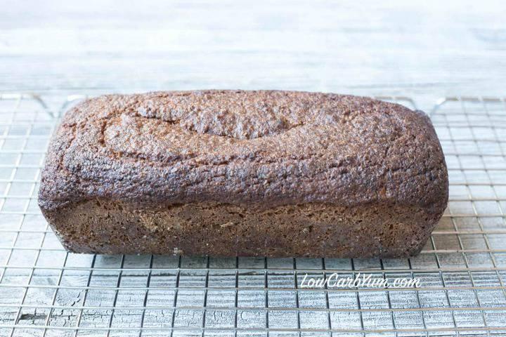 bread loaf on rack