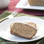 low carb gluten free frosted gingerbread bread