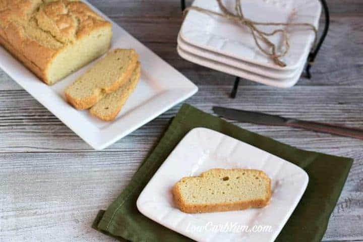 A fantastic gluten-free low carb bread recipe made with nut-free sesame flour.