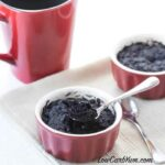 Low carb minute brownie mug cake