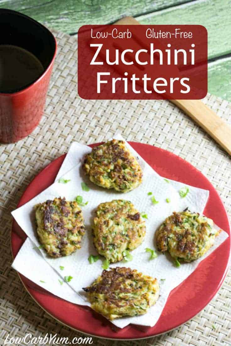 You will love these healthier coconut flour zucchini fritters made low carb and gluten free. Serve them as an appetizer or a side to compliment your meal.