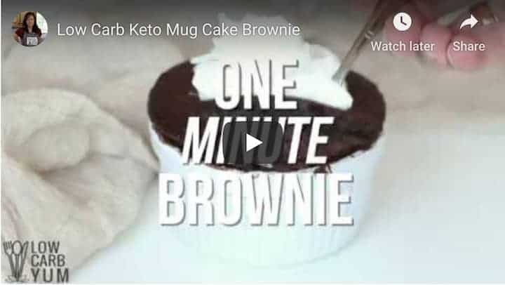 keto mug brownie recipe video