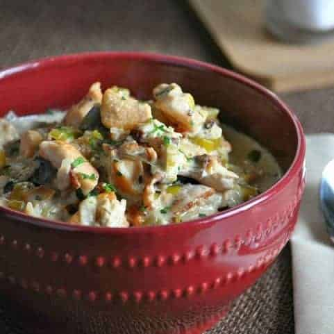 Low carb crock pot chicken bacon chowder