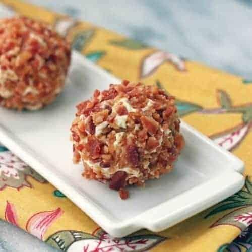 Low carb appetizer - bacon pistachio truffles