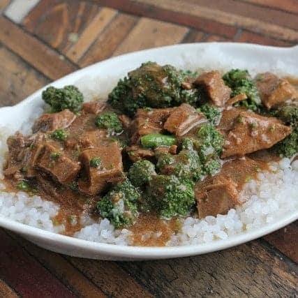Low carb crock pot beef and broccoli