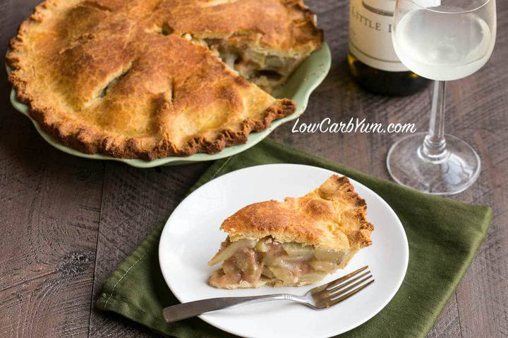 Low carb gluten free chayote squash mock apple pie