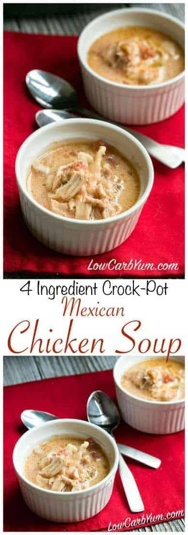 Crock Pot Mexican Chicken Soup Low Carb Yum