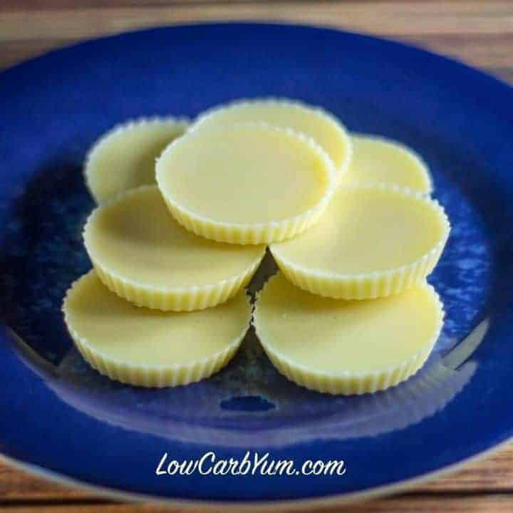 Low carb white chocolate fat bombs recipe