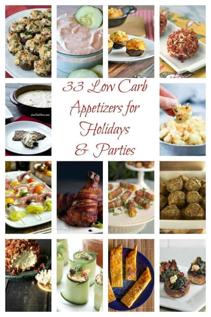 Planning a party or holiday celebration? Here's a recipe round-up of 33 delicious low carb keto appetizers that are sure to please any crowd!