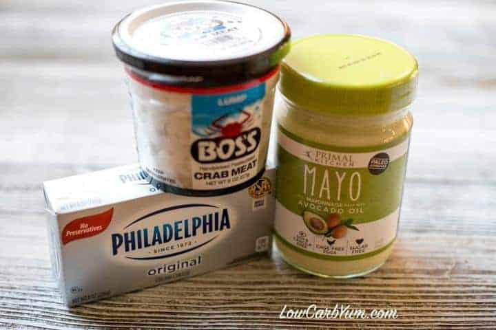low carb baked cream cheese crab dip ingredients