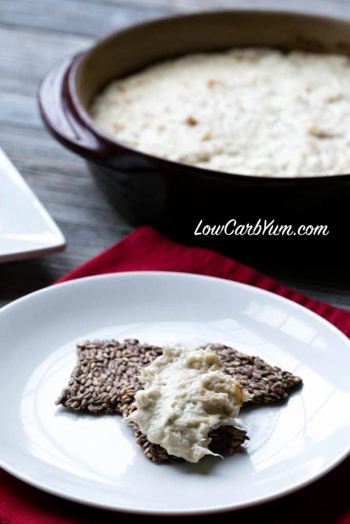 low carb baked cream cheese crab dip