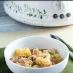 Low carb crock pot ham cauliflower potato