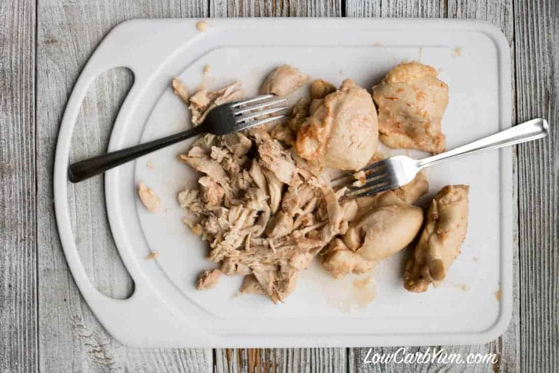Shred crock pot chicken