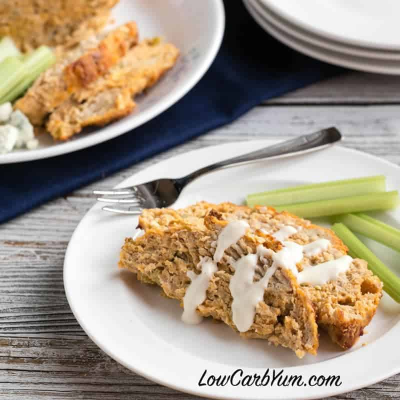 Buffalo Chicken Meatloaf – Low Carb Gluten Free