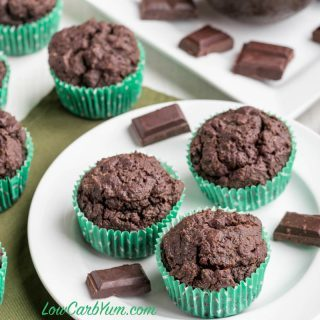 Double Chocolate Muffins – KetoDiet Cookbook