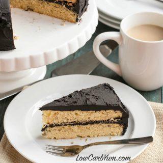 Yellow Cake with Dark Chocolate Frosting