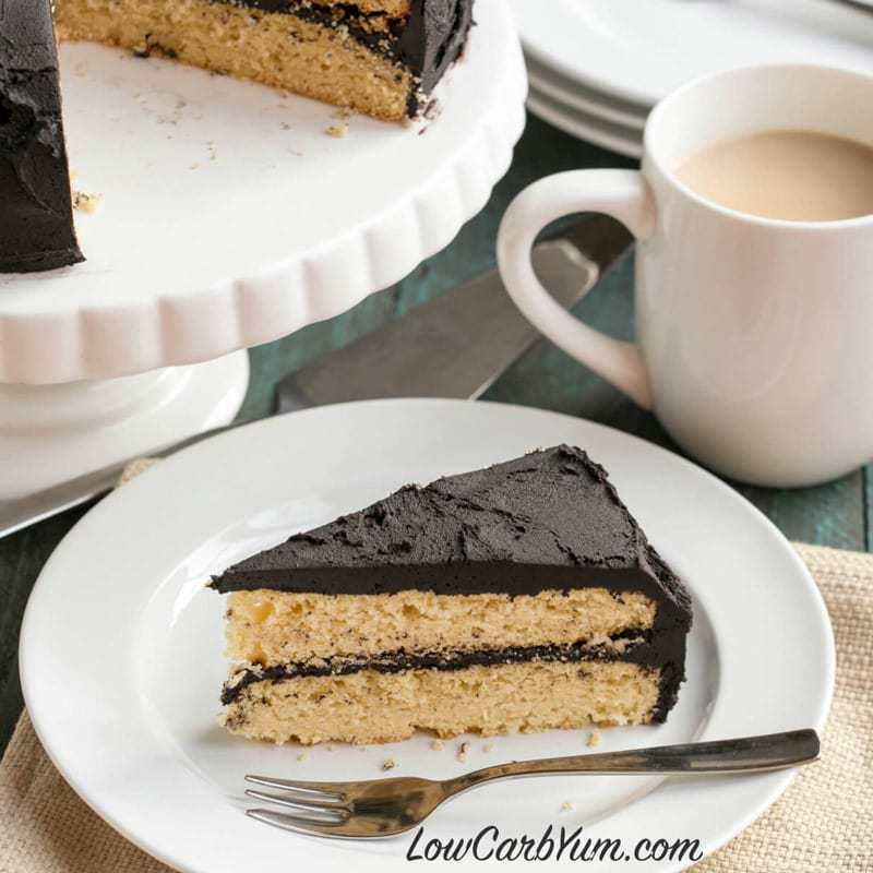 Dark Chocolate Frosting on Yellow Cake Recipe