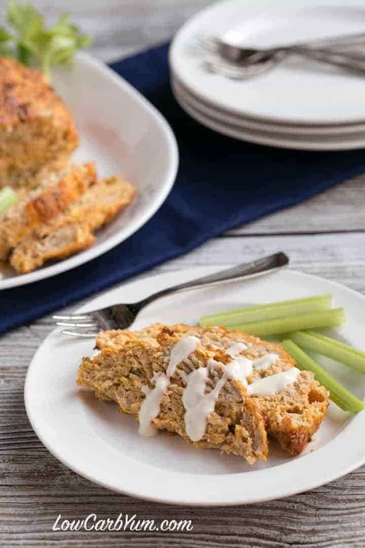 Easy low carb buffalo chicken meatloaf
