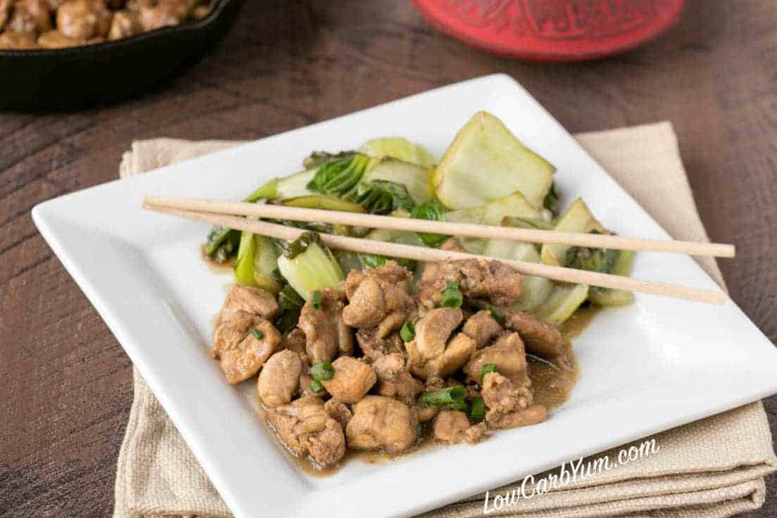 Low carb Filipino chicken adobo