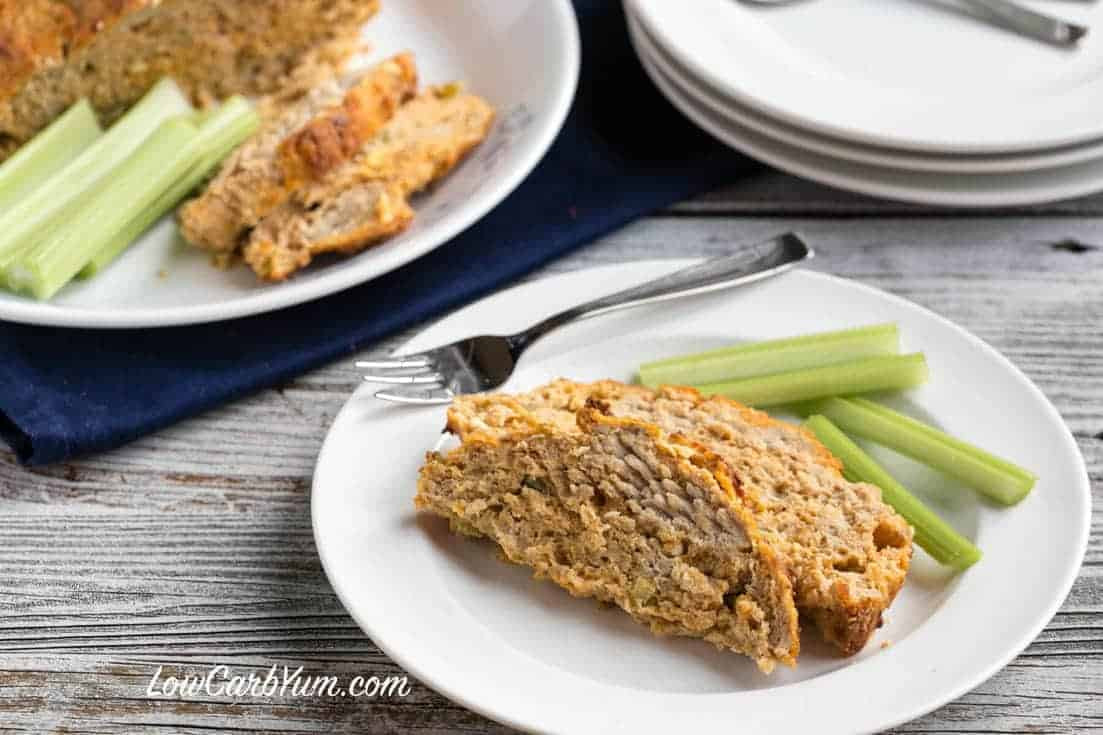 Low carb gluten free Buffalo chicken meatloaf recipe