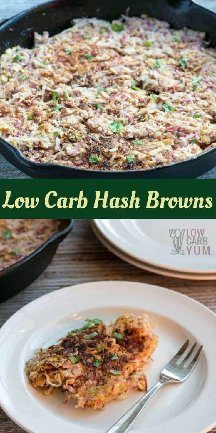 Looking to change up your breakfast to an old favorite? Try these keto friendly radish low carb hash browns if you miss your morning potatoes! | LowCarbYum.com