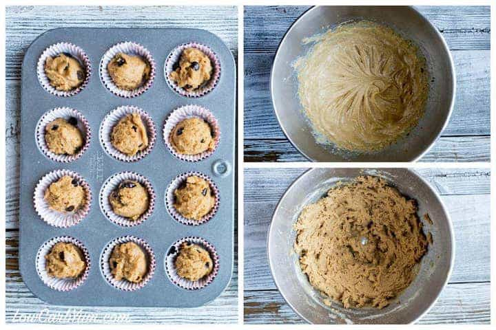 How to make peanut butter chocolate chip muffins