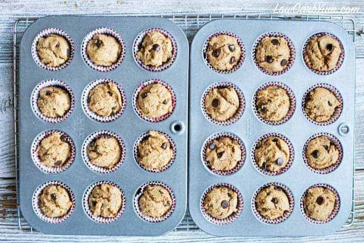 Easy to make peanut butter chocolate chip muffins