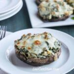 Spinach artichoke stuffed portobello mushrooms