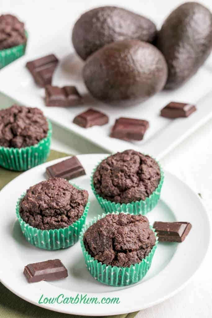 Low carb double chocolate muffins from The KetoDiet Cookbook