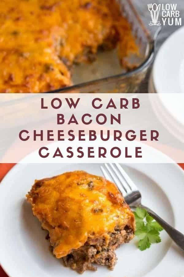 keto cheeseburger casserole recipe