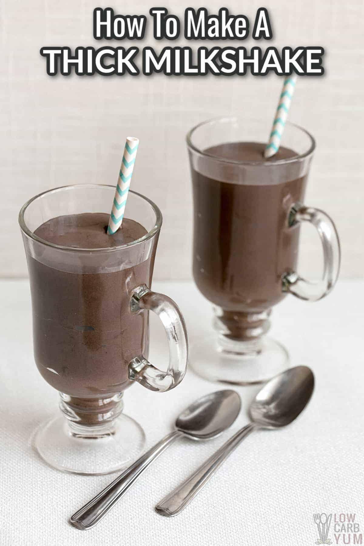 how to make a thick milkshake cover image