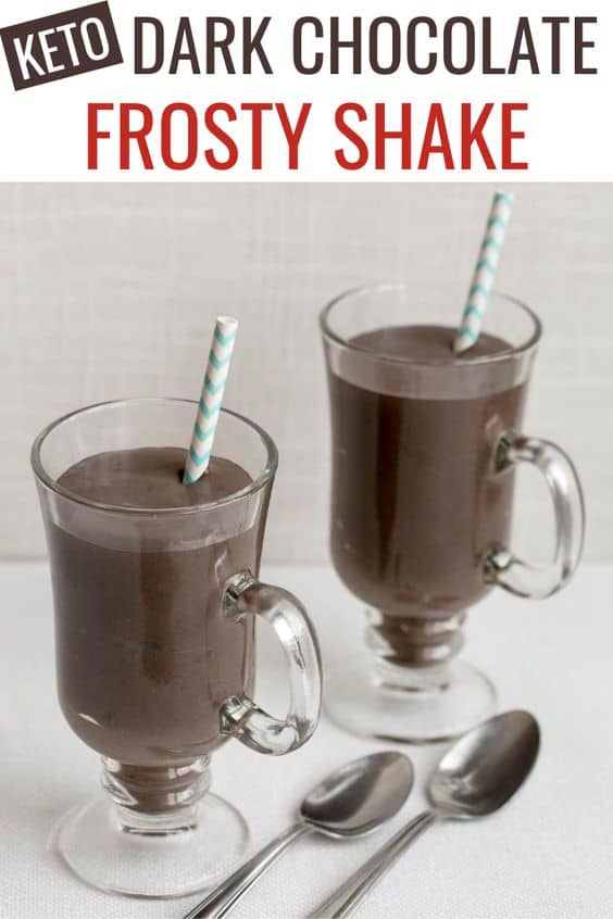 keto dark chocolate frosty shake
