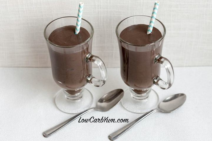 Dark chocolate frosty milkshake