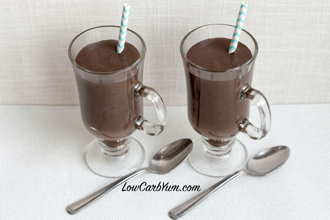 Dark chocolate frosty milkshake