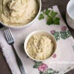 Low carb garlic mashed cauliflower celery root mash
