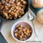 Low carb jicama apple filling