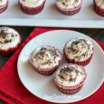 Low carb red velvet cheesecake cupcakes