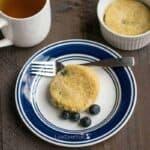 Gluten free blueberry mug cake
