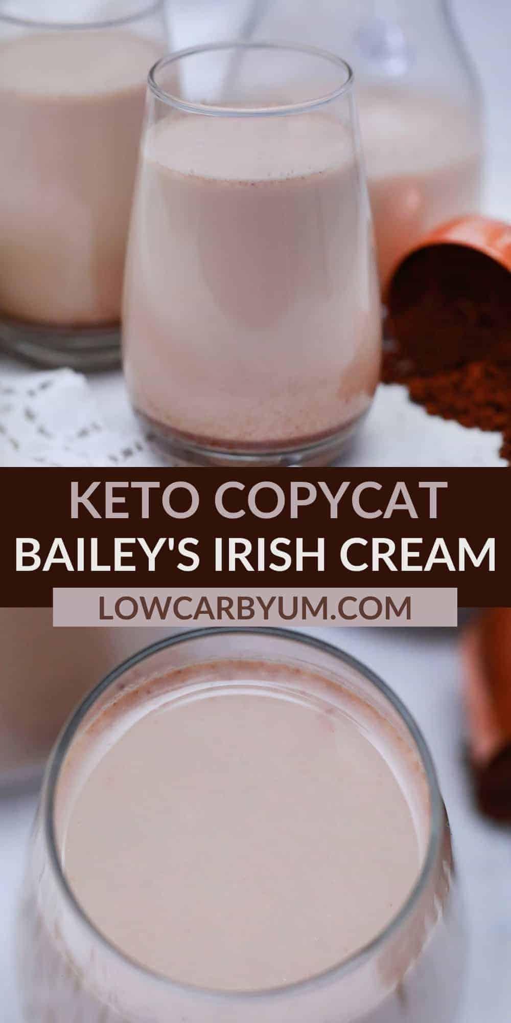 keto baileys irish cream copycat pinterest image