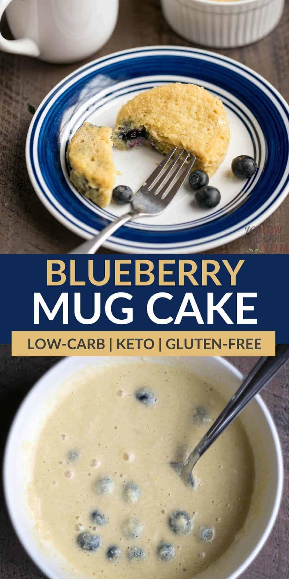 keto blueberry mug cake pinterest image
