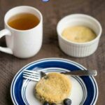Low carb blueberry mug cake