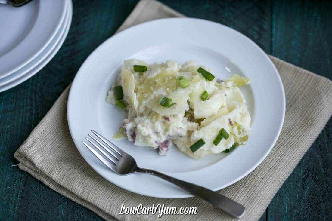 leftover corned beef casserole on plate