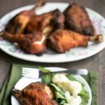 Low carb gluten free crispy oven baked chicken legs