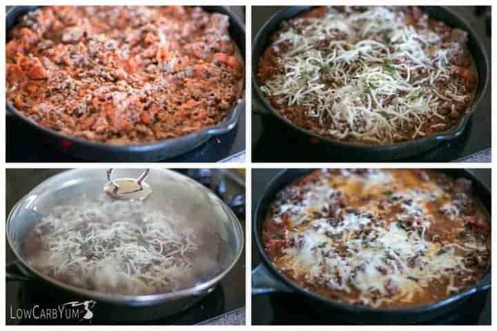 Low carb keto skillet lasagna Ketogenic Cooking